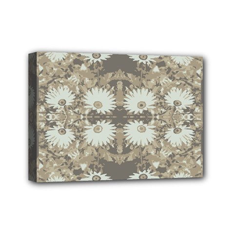 Vintage Daisy Floral Pattern Mini Canvas 7  X 5  by dflcprints