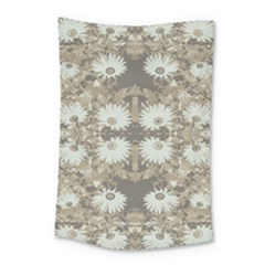 Vintage Daisy Floral Pattern Small Tapestry by dflcprints