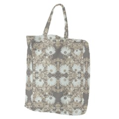 Vintage Daisy Floral Pattern Giant Grocery Zipper Tote by dflcprints