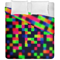 Squares Duvet Cover Double Side (california King Size) by dawnsiegler