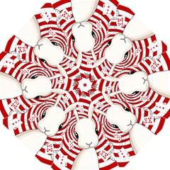 White Rabbit In Wonderland Folding Umbrellas by Valentinaart