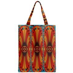 Geometric Extravaganza Pattern Zipper Classic Tote Bag by linceazul