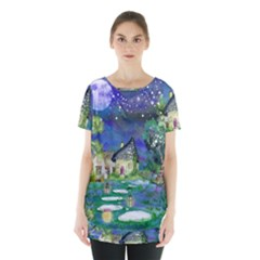 Background Fairy Tale Watercolor Skirt Hem Sports Top by Nexatart