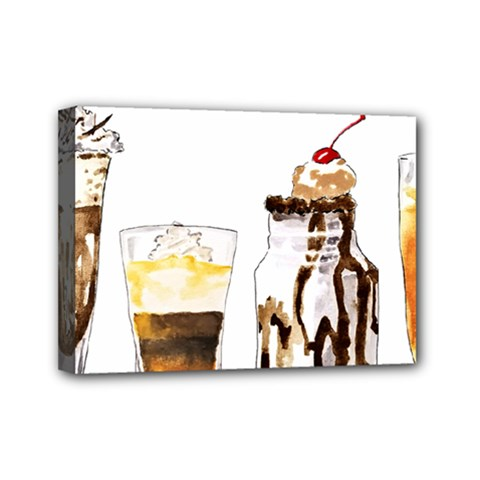 Coffee And Milkshakes Mini Canvas 7  X 5  by KuriSweets