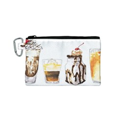 Coffee And Milkshakes Canvas Cosmetic Bag (small)