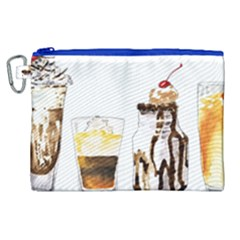 Coffee And Milkshakes Canvas Cosmetic Bag (xl) by KuriSweets