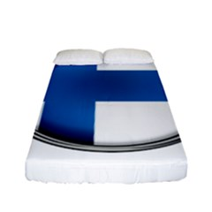 Finland Country Flag Countries Fitted Sheet (full/ Double Size) by Nexatart