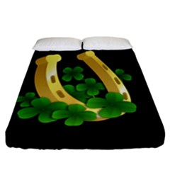 St  Patricks Day  Fitted Sheet (california King Size) by Valentinaart