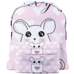 Cute Mouse   Valentines Day Giant Full Print Backpack by Valentinaart
