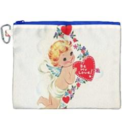 Cupid   Vintage Canvas Cosmetic Bag (xxxl)