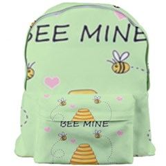 Bee Mine Valentines Day Giant Full Print Backpack by Valentinaart