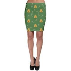 Bee Pattern Bodycon Skirt by Valentinaart