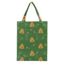 Bee Pattern Classic Tote Bag by Valentinaart