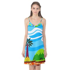 Landscape Background Nature Sky Camis Nightgown by Nexatart