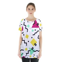 Art Background Abstract Unique Skirt Hem Sports Top by Nexatart