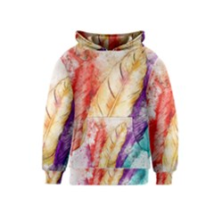 Feathers Bird Animal Art Abstract Kids  Pullover Hoodie by Nexatart