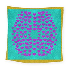 Raining Love And Hearts In The  Wonderful Sky Square Tapestry (large)