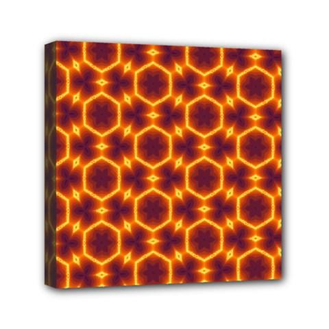 Black And Orange Diamond Pattern Canvas Travel Bag by Fractalsandkaleidoscopes