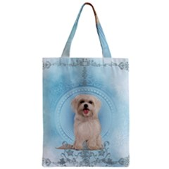 Cute Little Havanese Puppy Zipper Classic Tote Bag by FantasyWorld7