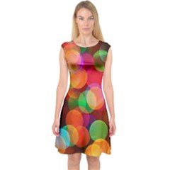 Color Explosion Capsleeve Midi Dress by belezabrazuca70