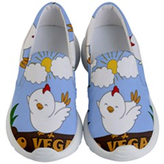 Go Vegan   Cute Chick  Kid s Lightweight Slip Ons by Valentinaart