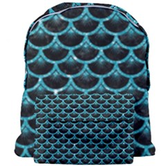 Scales3 Black Marble & Turquoise Glitter (r) Giant Full Print Backpack by trendistuff