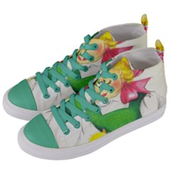 Girl 1731722 1920 Women s Mid Top Canvas Sneakers by vintage2030
