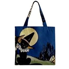 Black Cat 1462738 1920 Zipper Grocery Tote Bag by vintage2030