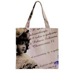 Child 1334202 1920 Zipper Grocery Tote Bag by vintage2030