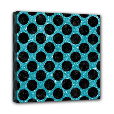 Circles2 Black Marble & Turquoise Glitter Multi Function Bag	 by trendistuff