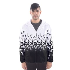 Flat Tech Camouflage White And Black Hooded Wind Breaker (men) by jumpercat