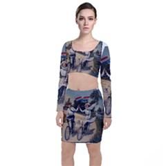 Kids 1763423 1280 Long Sleeve Crop Top & Bodycon Skirt Set