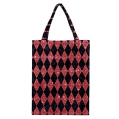 Diamond1 Black Marble & Red Glitter Classic Tote Bag by trendistuff