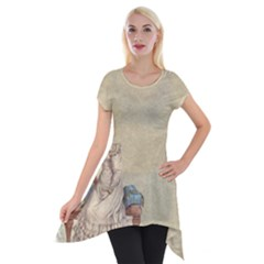 Background 1775324 1920 Short Sleeve Side Drop Tunic by vintage2030