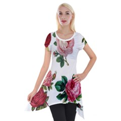 Roses 1770165 1920 Short Sleeve Side Drop Tunic by vintage2030