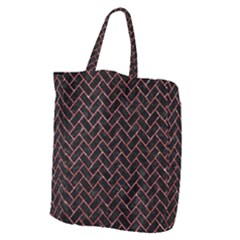Brick2 Black Marble & Red Glitter (r) Giant Grocery Zipper Tote by trendistuff