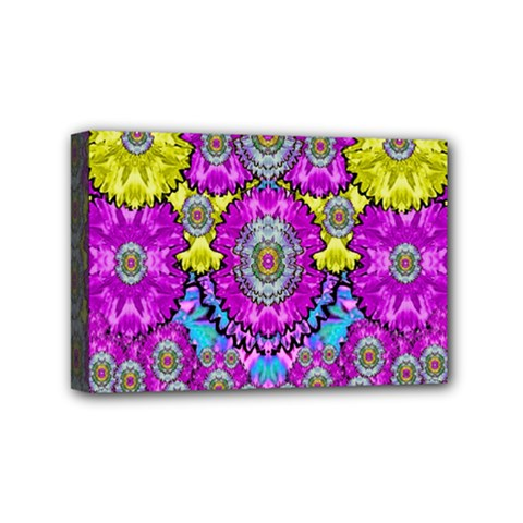 Fantasy Bloom In Spring Time Lively Colors Mini Canvas 6  X 4  by pepitasart