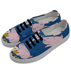 Friends Not Food   Cute Pig And Chicken Men s Classic Low Top Sneakers by Valentinaart