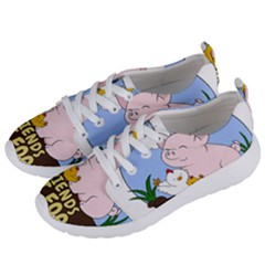 Friends Not Food   Cute Pig And Chicken Women s Lightweight Sports Shoes by Valentinaart