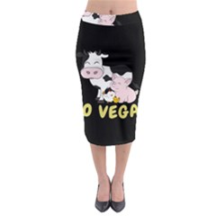 Friends Not Food   Cute Cow, Pig And Chicken Midi Pencil Skirt by Valentinaart