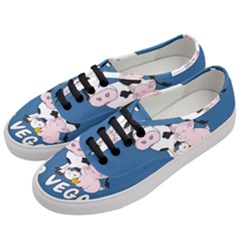 Friends Not Food   Cute Cow, Pig And Chicken Women s Classic Low Top Sneakers by Valentinaart