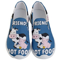 Friends Not Food   Cute Cow, Pig And Chicken Men s Lightweight Slip Ons by Valentinaart