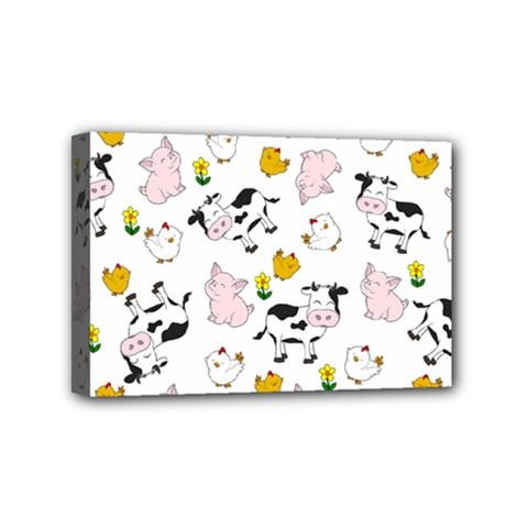 The Farm Pattern Mini Canvas 6  X 4  by Valentinaart
