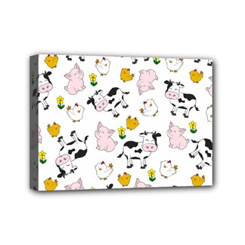 The Farm Pattern Mini Canvas 7  X 5  by Valentinaart