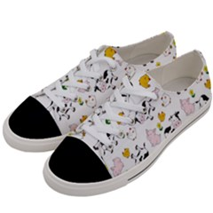 The Farm Pattern Women s Low Top Canvas Sneakers by Valentinaart