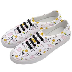 The Farm Pattern Women s Classic Low Top Sneakers by Valentinaart