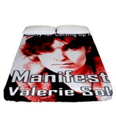 Valerie Solanas Fitted Sheet (king Size) by Valentinaart