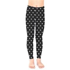 Black Polka Dots Kids  Legging by jumpercat