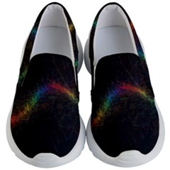 Background Light Glow Lines Colors Kid s Lightweight Slip Ons
