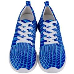 Blue Background Light Glow Abstract Art Men s Lightweight Sports Shoes
